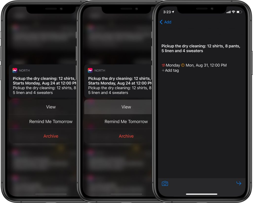 North Notes - How to access quick actions from your notifications