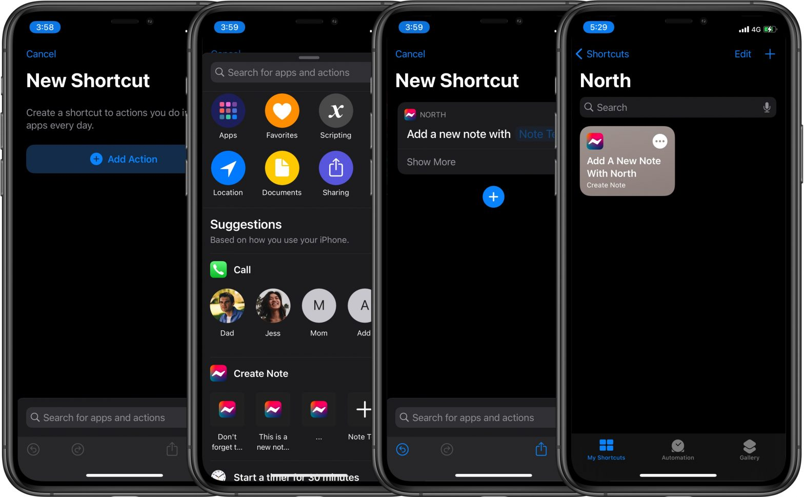 North Notes - How to create a Siri Shortcut for North