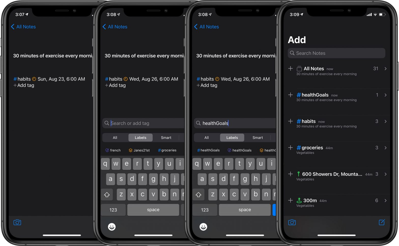 North Notes - How to organize your notes and create new tags